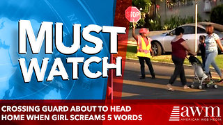 Crossing Guard About To Head Home When Girl Screams 5 Words That Leave Her Cold - Video