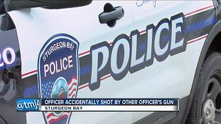 Sturgeon Bay police officer injured, shot by fellow officer - Video
