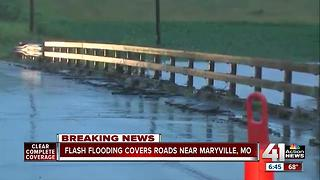 Flooding closes roads across northern Missouri - Video