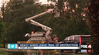 High winds cause damage in Fort Myers neighborhood - Video