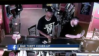 Thieves block camera lense to steal from WI bar