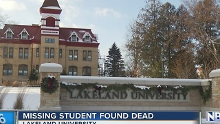 Missing student's body found