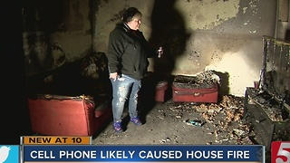 House Fire May Have Been Caused By Cellphone - Video