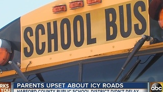 Harford County parents upset about icy roads