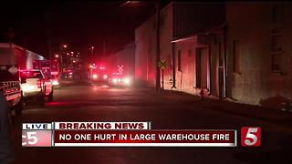 Fire Destroys Goodwill Warehouse In Downtown Nashville - Video