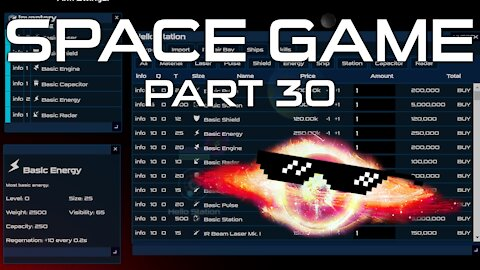 Space Game Part 30 - Materials / Item Icons / Trade Filters