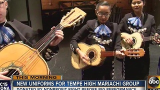 Tempe High School mariachi band gets official trajes uniform - Video
