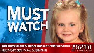 Dad Allows His Baby To Pick Out Her Picture Day Outfit. Her Photo Goes Viral Overnight