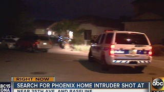 Police searching for Phoenix home intruder shot at by a pregnant woman during attempted robbery - Video