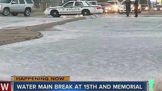 Watermain Break Closes Memorial From 15th to 21st - Video