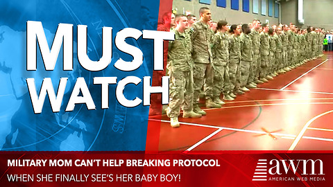 Mom In Uniform Can't Help It When She Sees Her Baby, Breaks Protocol. I Can't Stop Smiling