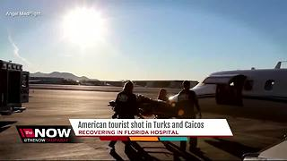 American tourist robbed, shot in Turks and Caicos is medically evacuated to US - Video