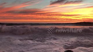 Incredible sunset in Cape Town, South Africa - Video