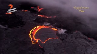 Stunning Aerial View of Lava Gushing From Kilauea Volcano - Video