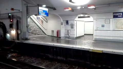 Several Paris Metro Stations Flooded After Heavy Rain