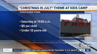 Christmas in July at Downtown Container Park - Video