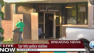 Truck rams into Riviera Police Department - Video