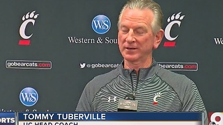 University of Cincinnbati football coach Tommy Tuberville preaches patiene - Video