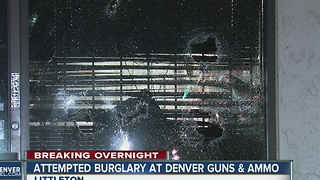 Suspects flee after attempted burglary at Littleton gun store - Video