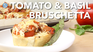 How to make quick and delicious tomato basil bruschetta - Video