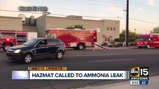 Ammonia leak at Reddy Ice warehouse in Phoenix contained - Video