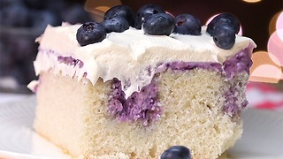 Blueberry Cheesecake Poke Cake - Video