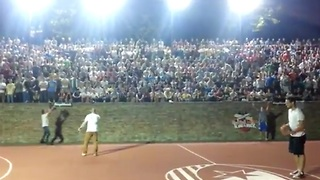 Spectator hits half-court shot to win trip to Red Bull event - Video