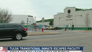 Tulsa Transitional Inmate Escapes Facility - Video