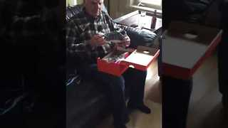 Delighted Dad Finds Out They Make Light-Up Shoes for Adults - Video