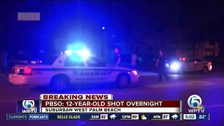 12-old-boy shot at suburban West Palm Beach apartments - Video