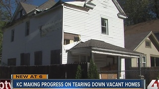KC making progress on tearing down vacant homes - Video