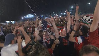 USA fans in Rio react after beating Ghana - Video