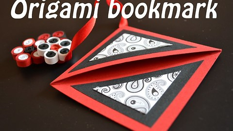 DIY paper crafts: How to make an origami bookmark