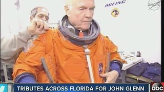 Tribute across Florida for John Glenn - Video