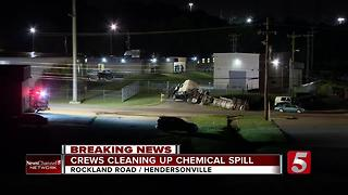 Evacuations Lifted In Hendersonville After Crash Causes Chemical Spill - Video