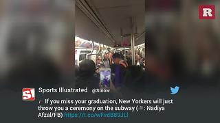 Student Graduates On Subway | Rare Life - Video