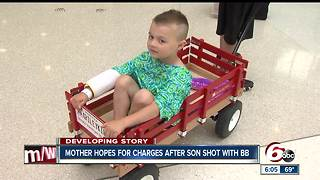 Mother hopes for charges after son shot with BB - Video