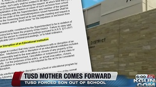 TUSD parent and son kicked out of district - Video