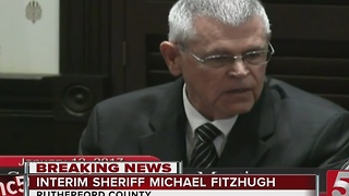 Rutherford Co. Commissioners Make Fitzhugh New Interim Sheriff - Video