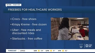 We're in this together: Companies offering freebies for healthcare workers