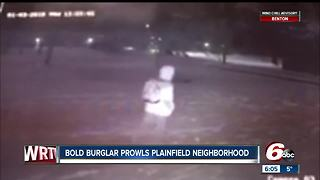 Burglar caught by surveillance cameras breaking into cars