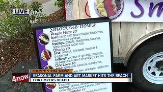 Season farm and art market opens on Fort Myers Beach - 8am live report - Video