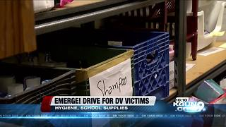 Emerge! holds donation drive for domestic violence victims - Video