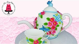 3D Carved Teapot Cake - How To With The Icing Artist - Video