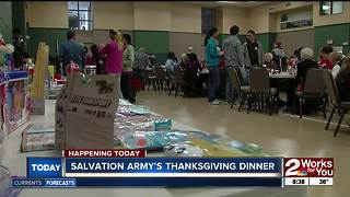 Salvation Army's Thanksgiving dinner - Video