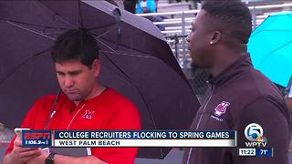 College recruiters checking out Spring Football