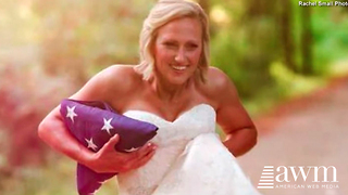 Bride-To-Be Loses Fiance In The Line Of Duty, Gets Her Wedding Photos Done Anyway - Video