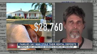 Families say man stole their rental deposits - Video
