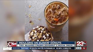 Dunkin' Donuts new S'mores Donut and Mocha Oreos - Video