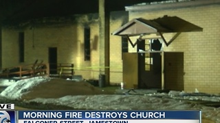 Church goes up in flames Monday morning - Video